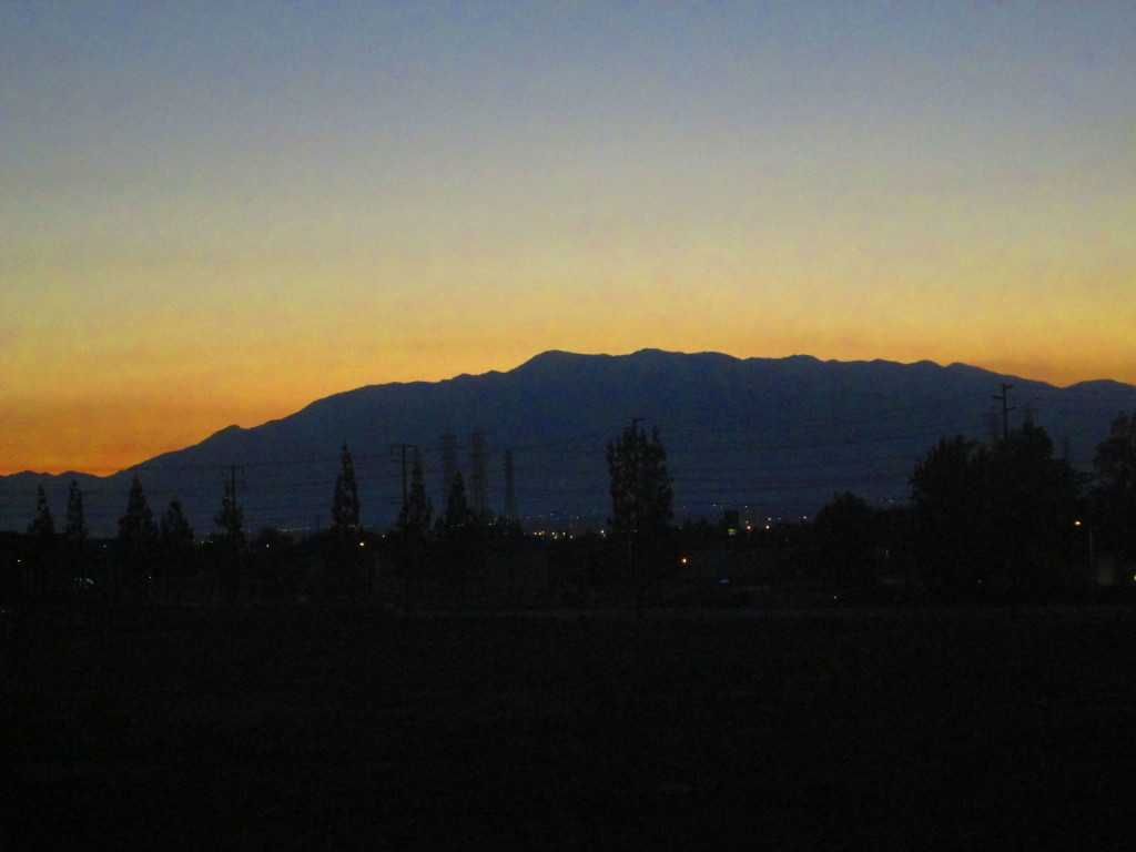 View of Mount Baldy At Sunset